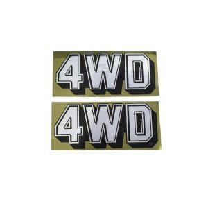 4WD sticker set