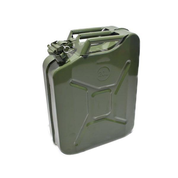 METALEN JERRYCAN 20 LITER Ideaal te gebruiken voor: Tanken van uw voertuig Te maken als frontgewicht voor mini-tractor Afmetingen: Hoogte: 46 cm Breedte: 36 cm Dikte: 17 cm