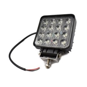 WERKLAMP LED 48 WATT Extra info: 48 watt (16×3 watt) 9 tot 80 volt 3840 lumen Kleurtemperatuur 6000K-6500K IP67 waterbestendig Afmetingen: Formaat: 110 x 110 mm Met steun: 140 mm Dikte: 50 mm