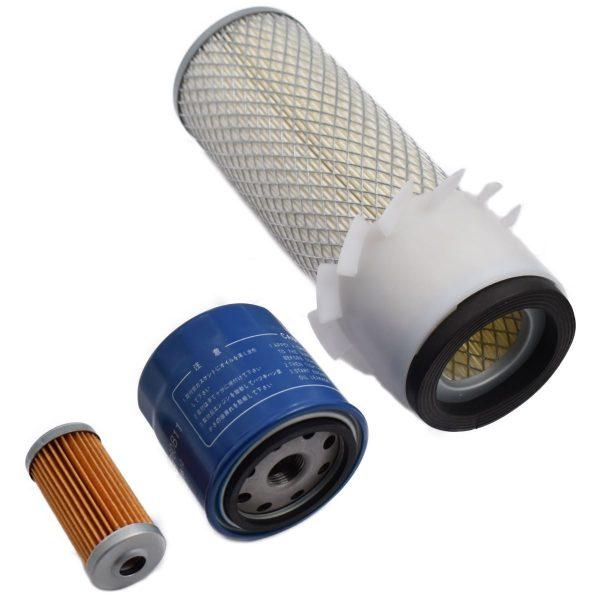 FILTERSET ISEKI TL SERIE Iseki TL: TL1900 TL1901 TL2100 TL2101 TL2300 TL2301 TL2500 TL2700 Inhoud set: 1x Brandstoffilter 1x Oliefilter 1x Luchtfilter