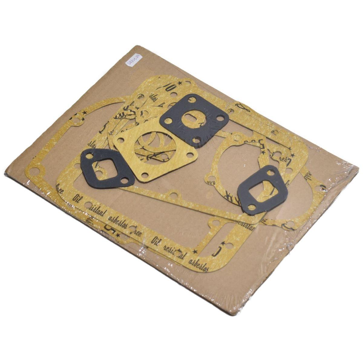 PAKKING SET ISEKI, MITSUBISHI, SATOH, SUZUE, KE70, KE75 Inhoud set: (onder andere) Inlaat + uitlaat pakking Distributiepakking Carterpakking ect. Let op!: Zonder koppakking Zonder kleppendeksel pakking Iseki: (KE70 + KE75 motor) TX1300 TX1500 Mitsubishi: D1300 D1500 MT1301 MT372 Satoh: ST1300 ST1300D ST1510 Suzue: MT1301 MT1301D MT1501 Noda: NR1301 NR1501