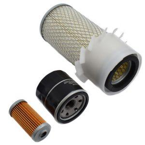 Filterset Yanmar YM Yanmar YM: YM1301 YM1401 YM1510 YM1601 YM1610 YM1810 Inhoud set: 1x Brandstoffilter 1x Oliefilter 1x Luchtfilter